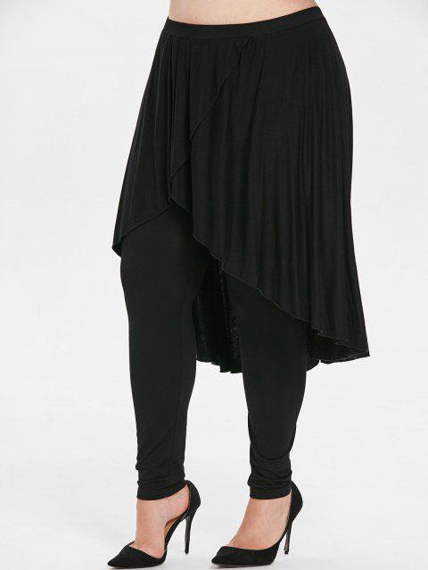 77a96a873db LIMITED OFFER  2019 Plus Size Handkerchief Skirt Pants In BLACK 5X ...