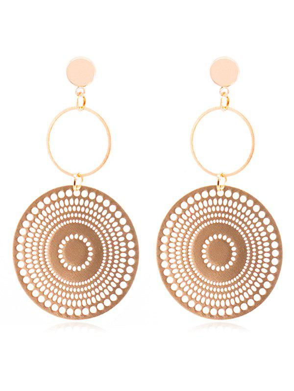 Geometric Round Shape Hoop Earrings -