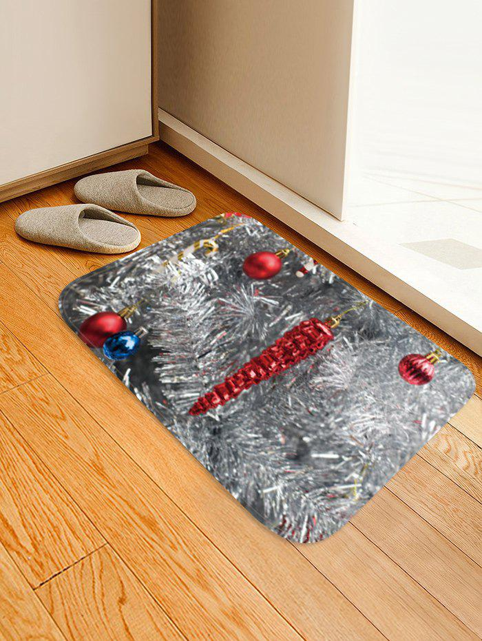 Christmas Decor Printed Floor Mat - GRAY CLOUD W16 X L24 INCH