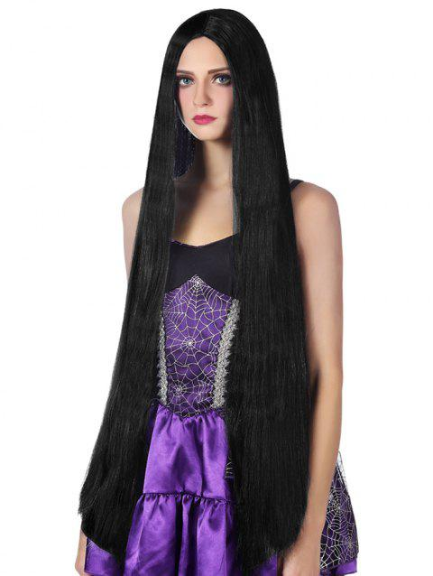 Ultra Long Straight Cosplay Synthetic Wig - BLACK