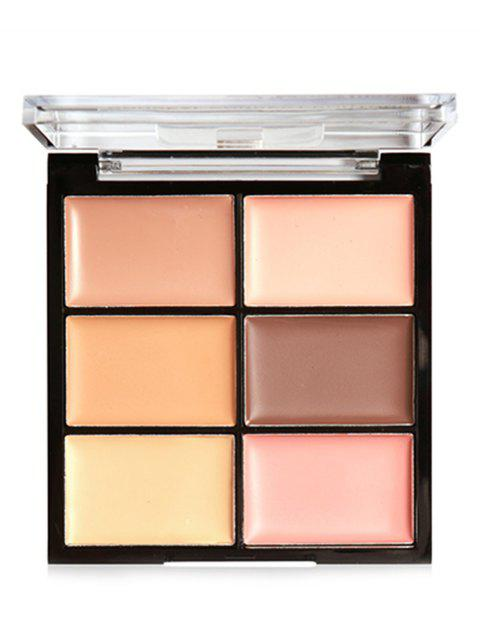 6 Colors High Coverage Creamy Concealer Palette - 001