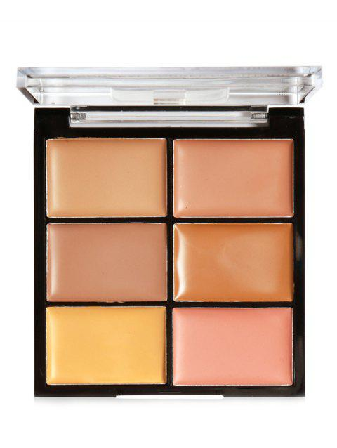 6 Colors High Coverage Creamy Concealer Palette - 002