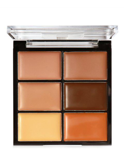 6 Colors High Coverage Creamy Concealer Palette - 003