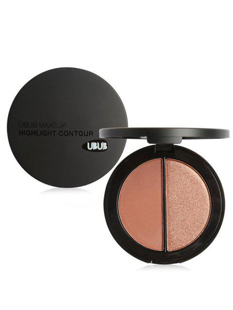 2 Colors Highlight Contour Palette - 003