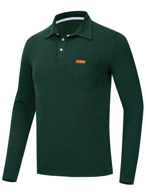Solid Color Long Sleeve T Shirt - DARK FOREST GREEN M