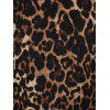 Leopard Print V Neck Mini Dress - LEOPARD 2XL