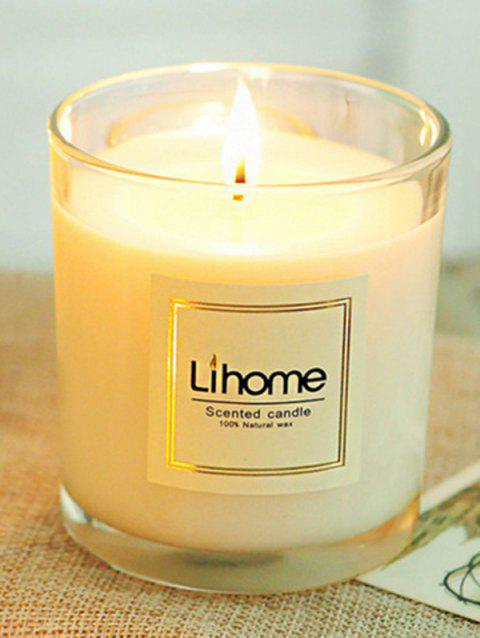 Scented Soy Glass Jars Candle - WHITE