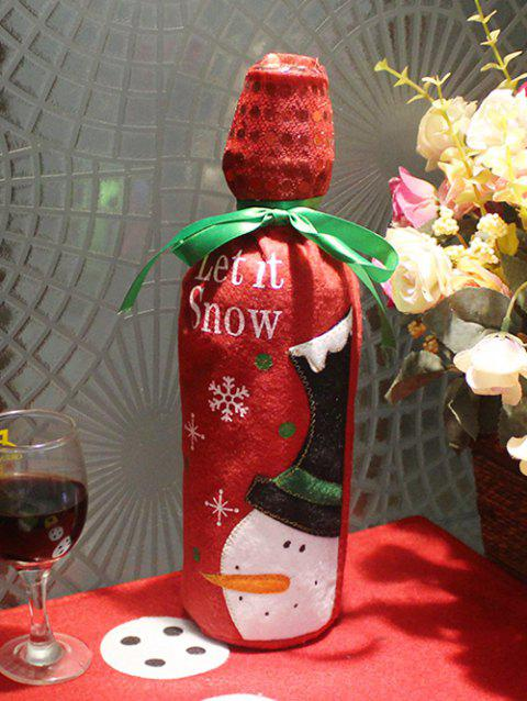Christmas Theme Bottle Decoration - RED