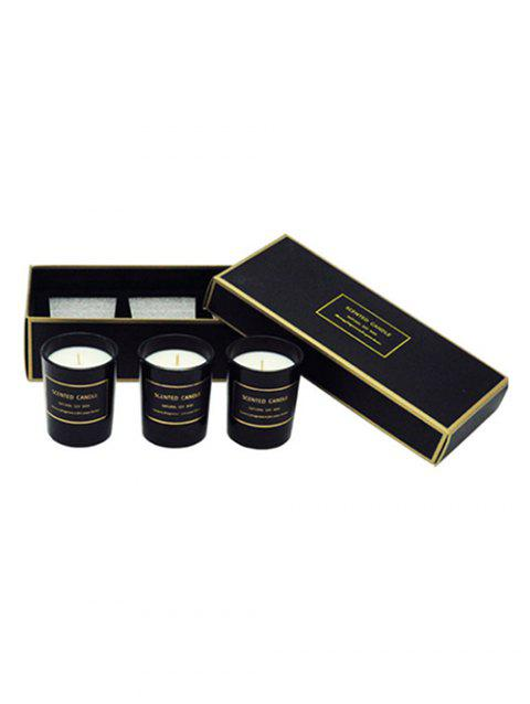 3PCS Scented Soy Wax Candle with Cup Set - BLACK