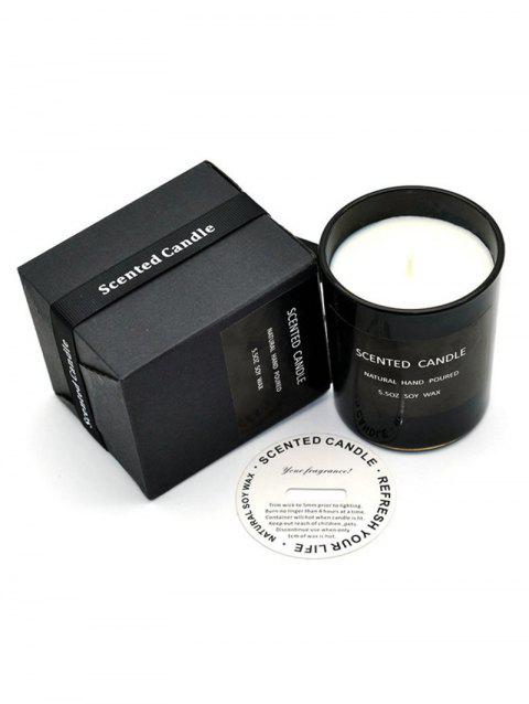 Scented Soy Wax Candle with Cup - BLACK