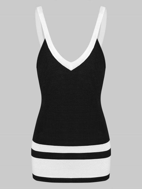Hit Color Openback Tank Top - BLACK 2XL