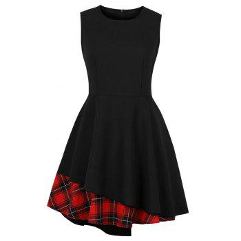 Retro Plaid Pin Up Dress
