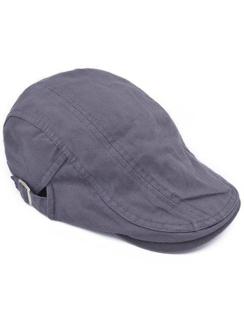 Line Embroidery Adjustable Duckbill Hat - GRAY
