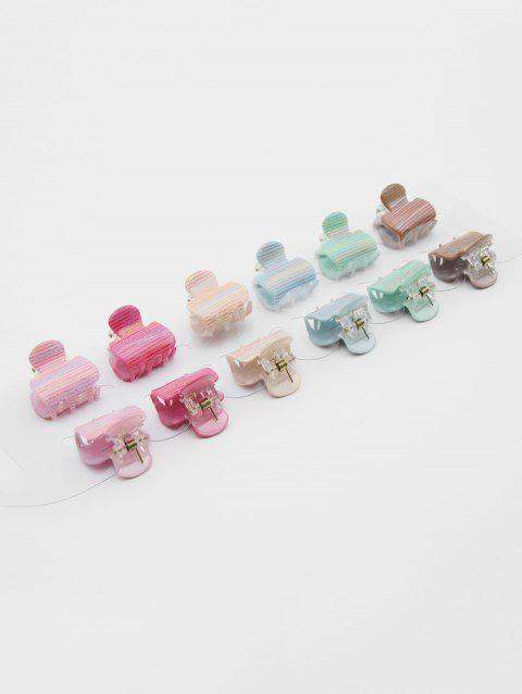 12 Pcs Hair Accessory Hair Claw Clip - multicolor B