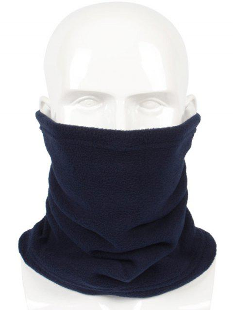 Solid Color Multi Use Scarf and Beanie - CADETBLUE