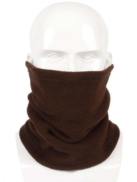 Solid Color Multi Use Scarf and Beanie - COFFEE