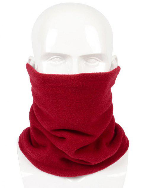 Solid Color Multi Use Scarf and Beanie - RED