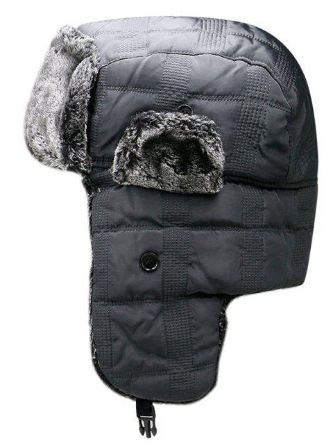 Winter Solid Color Windproof Trapper Hat - GRAY