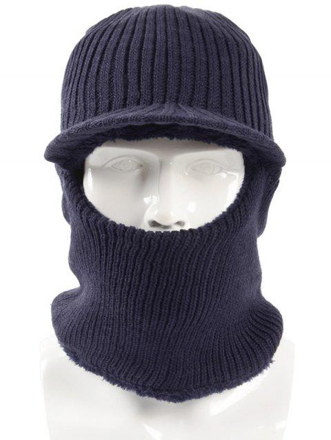 Winter Solid Color Knitted Beanie - CADETBLUE