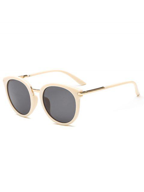 European American Round Young Style Sunglasses - BEIGE