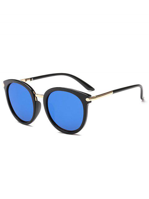 European American Round Young Style Sunglasses - BLUE