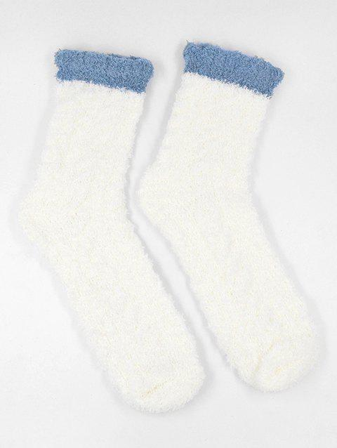 Coral Fleece Winter Floor Socks - WHITE