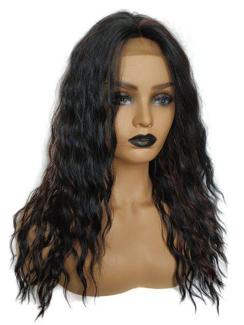 Medium Center Parting Colormix Wavy Party Synthetic Lace Front Wig - multicolor