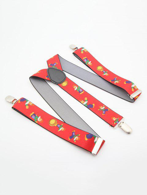 Christmas Themed  Adjustable Suspenders - RED