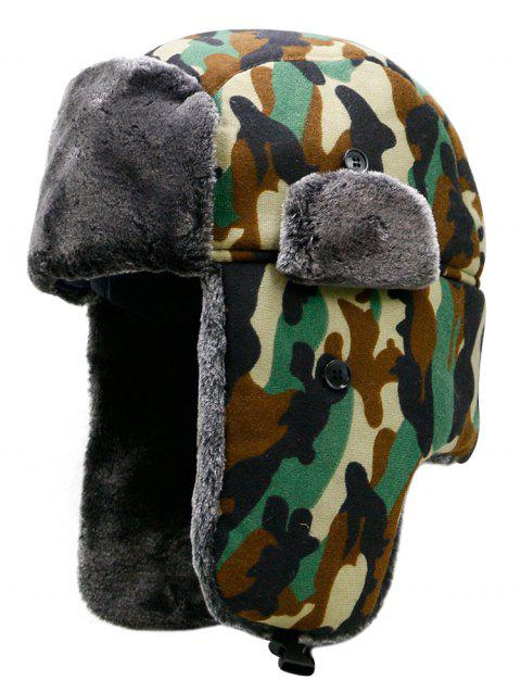 Outdoor Camouflage Print Windproof Trapper Hat - multicolor B