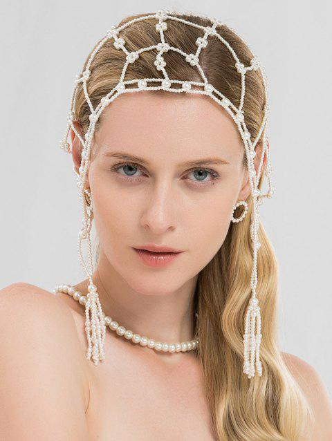 Pearls Network Hair Accessories - WHITE