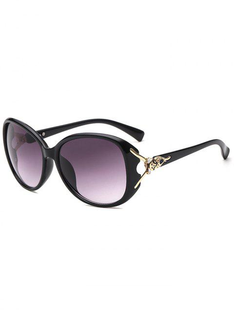 Butterfly Design Big Frame Sunglasses - BLACK