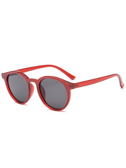 Round Shape Simple Style Sunglasses - RED