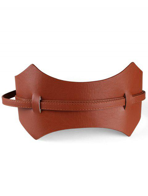 Super-Wide Concise Style Waist Belt - CAMEL BROWN