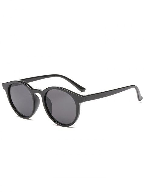 Round Shape Simple Style Sunglasses - BLACK