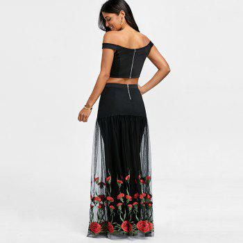 Crop Top with Tiered Tulle Flower Skirt