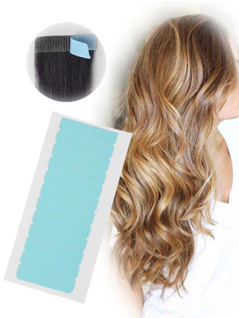 12Pcs Double Sides Hair Extensions Adhesive Hair Tapes - PLATINUM