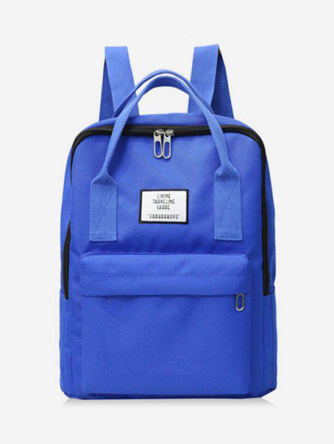 Waterproof Contract Color Backpack - BLUEBERRY BLUE