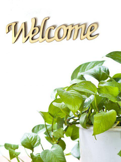Welcome Wooden Letters Sign - BURLYWOOD