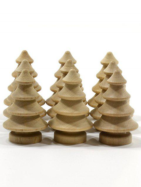 10 Pcs DIY Wooden Christmas Tree - BURLYWOOD