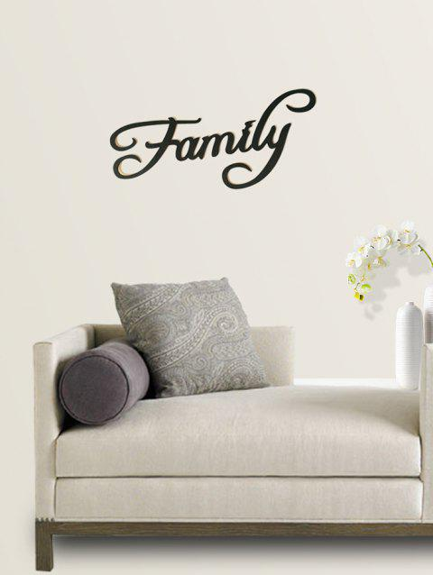 Family Wooden Letters Sign - BLACK