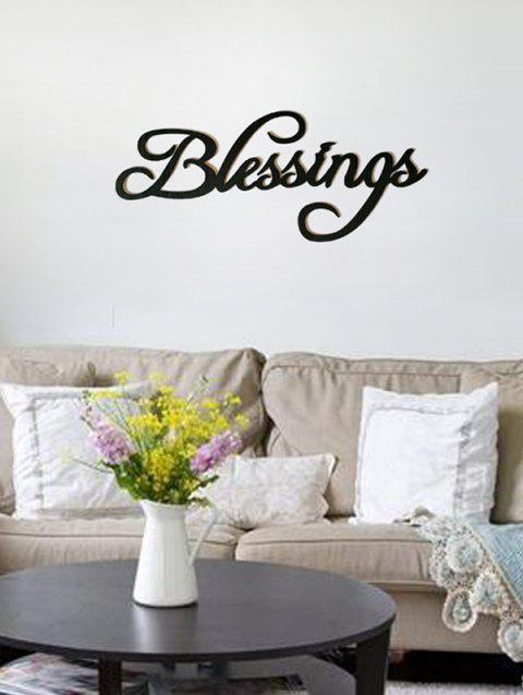 Blessings Wooden Letters Sign - BLACK