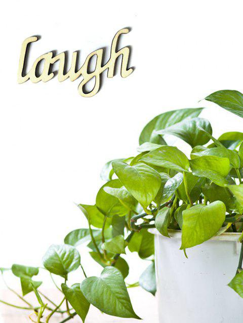 Laugh Wooden Letters Sign - BURLYWOOD