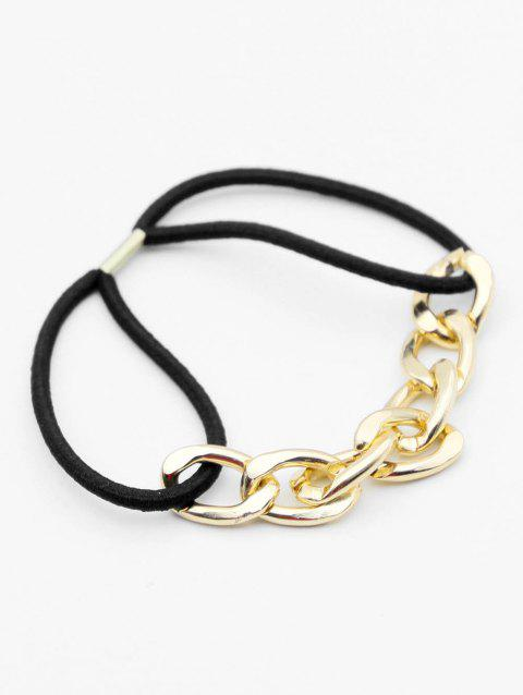 Metal Chain Joint Elastic Hair Band - GOLD