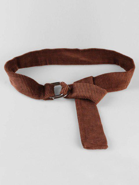 Fully Adjustable Corduroy Dress Belt - CAMEL BROWN