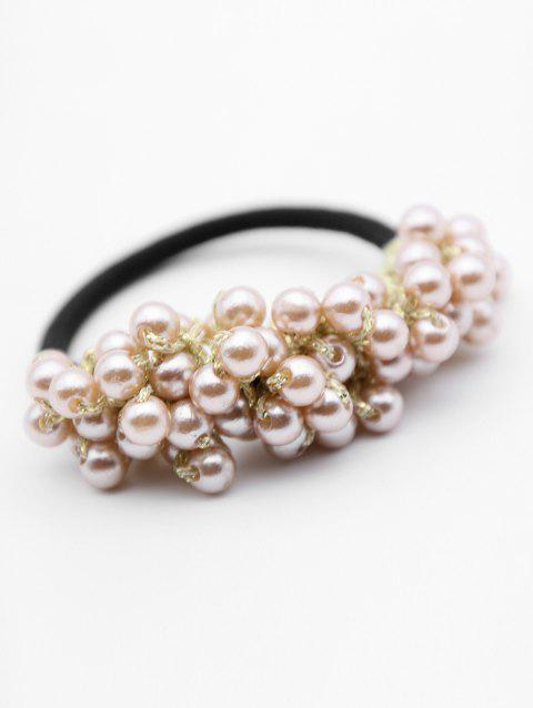 Vintage Faux Pearl Elastic Hairband - GOLD