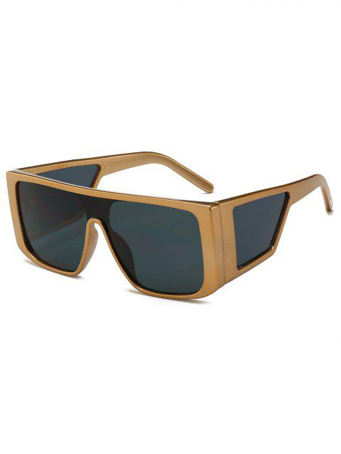 Integrated Lens Square Frame PC Sunglasses - GOLD