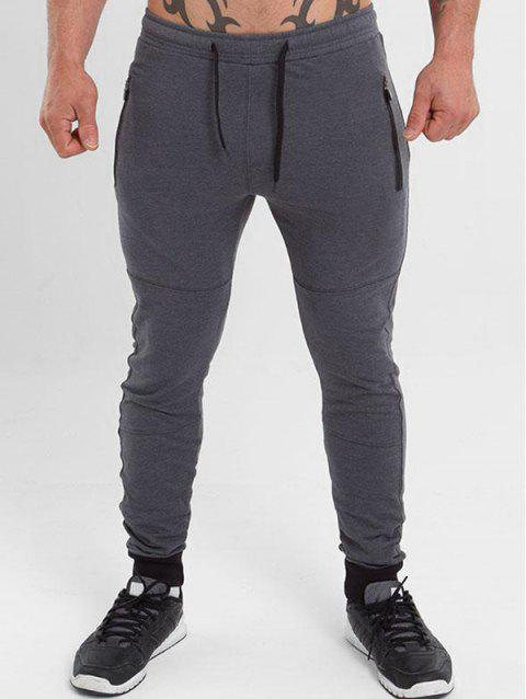 Casual Drawstring Long Jogger Pants - GRAY XS