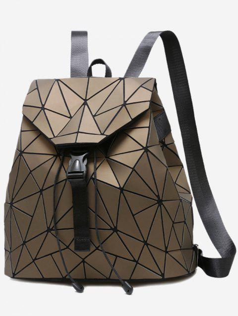 Geometric Pattern Over Lap Backpack - GOLD
