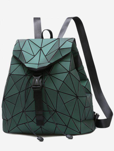 Geometric Pattern Over Lap Backpack - GREEN
