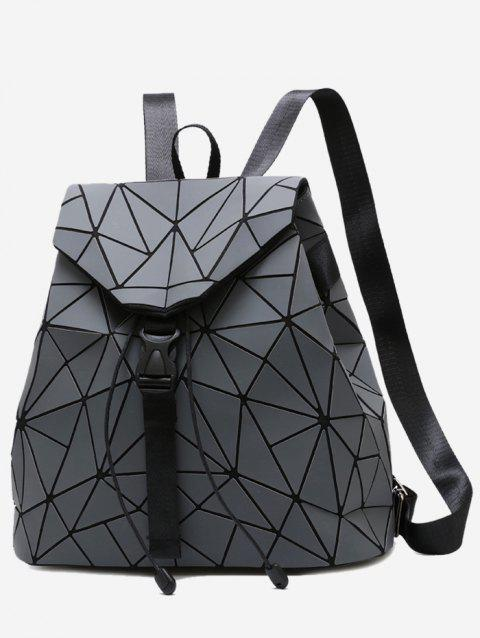 Geometric Pattern Over Lap Backpack - GRAY